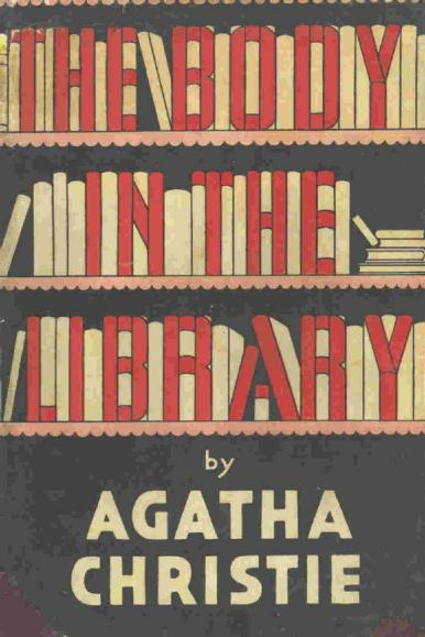 The cover for The Body In The Library by Agatha Christie
