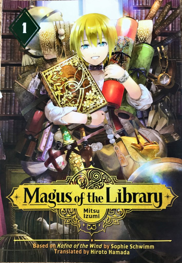 The front cover to volume 1 of Magus of the Library.